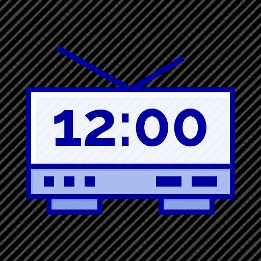 clock, electric, machine, time icon