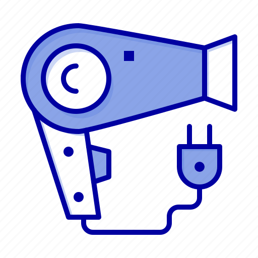 Dryer, hair, hairdryer, plug icon - Download on Iconfinder