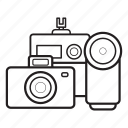 cameras, digicam, equipment, multimedia, photo camera, photograph, video camera icon