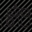 cameras, digicam, equipment, multimedia, photo camera, photograph, video camera icon