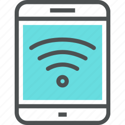 connection, digital, internet, network, tablet, wifi, wireless icon