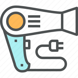 appliance, blow, blowdryer, blowing, dryer, hair, hairdryer icon