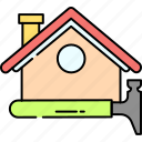 house, roofing, hammer, renovation