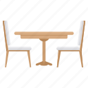 chair, decor, home, seat, table icon