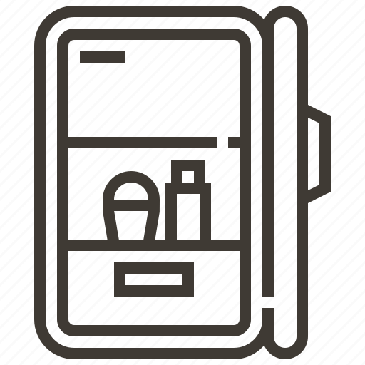 appliance, food, fridge, ice box, refrigerator icon