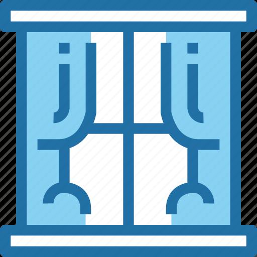 decoration, furniture, household, window icon