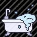 bathtub, bathroom, modern, interior, shower