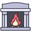 fire, fireplace, home, interior, warm