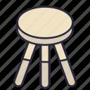 stool, chair, furniture, interior, modern