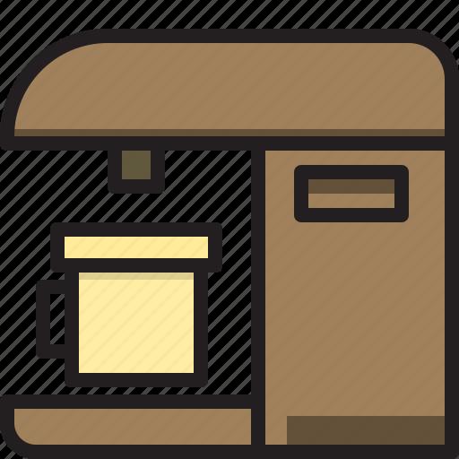Machine, home, coffee, electric icon