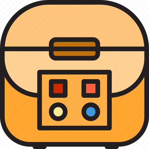 cylinder, electric, home, machine, rice icon