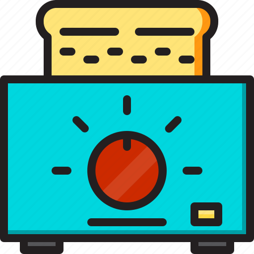electric, home, machine, toaster icon