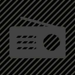 antenna, music, radio, set, speaker, style, tuner icon