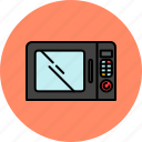 equipment, food, heating, home, kitchen, microwave icon