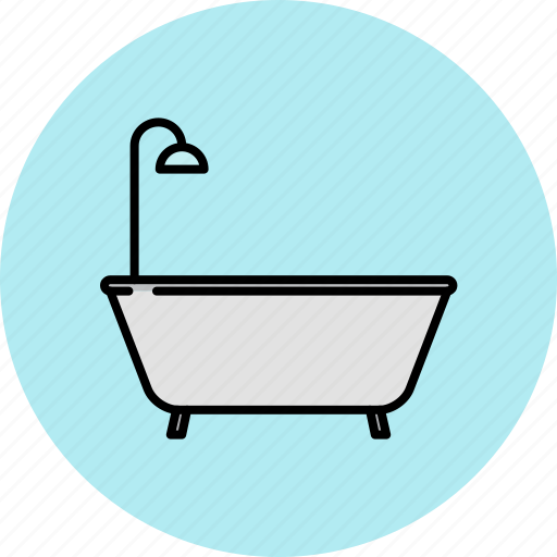 bathroom, bathtub, equipment, home, shower icon