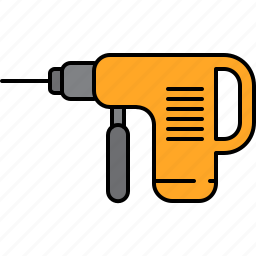 drill, equipment, home, improvement, machine icon