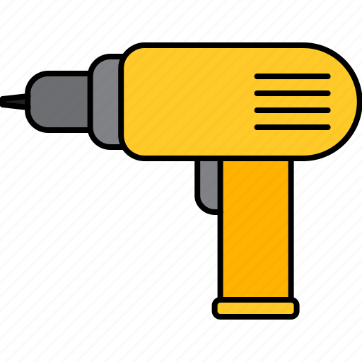 drill, electric, equipment, home, improvement icon