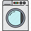 clothes, equipment, home, machine, washing icon