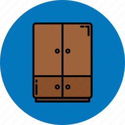 bedroom, closet, doors, furniture, home icon