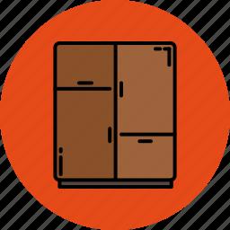 bedroom, door, drawers, furniture, home icon