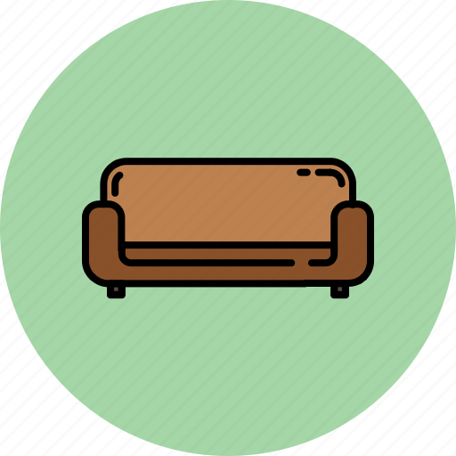 couch, fabric, furniture, home, leather icon