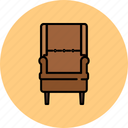 chair, fabric, furniture, home, lean, leather icon
