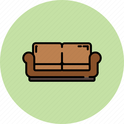 fabric, furniture, home, leather, love, seat icon