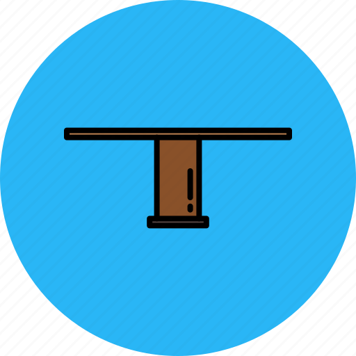 furniture, home, legged, single, table, wooden icon