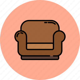 armchair, fabric, furniter, home, leather, livingroom icon