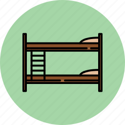 bedroom, beds, bunkbeds, fabric, furniture, home, wooden icon