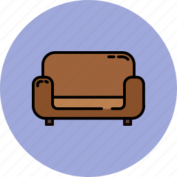 chair, fabric, furniture, home, leather icon