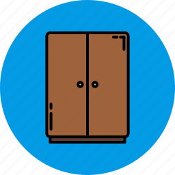 bedroom, closet, doors, furniture, home icon