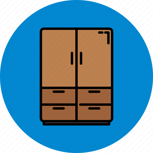closet, doors, drawers, furniture, home, wooden icon