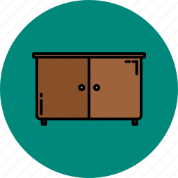 cupboard, doors, furniture, home icon