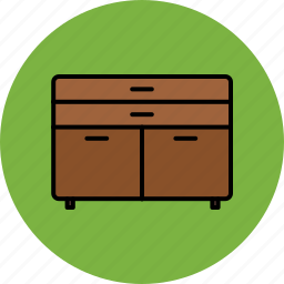 cupboard, door, drawers, furniture, home icon