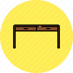 desk, drawers, furniture, home, wooden icon