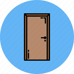 door, frame, furniture, home icon