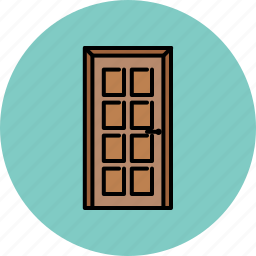 door, furniture, home, padded icon