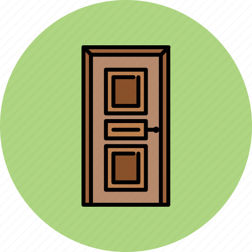 door, furniture, home, padded, wooden icon