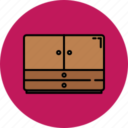 doors, drawers, furniture, home, wooden icon