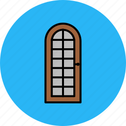 door, frame, furniture, glass, home icon