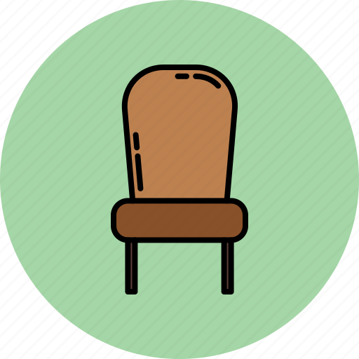 chair, fabric, furniture, home, leather, paded icon