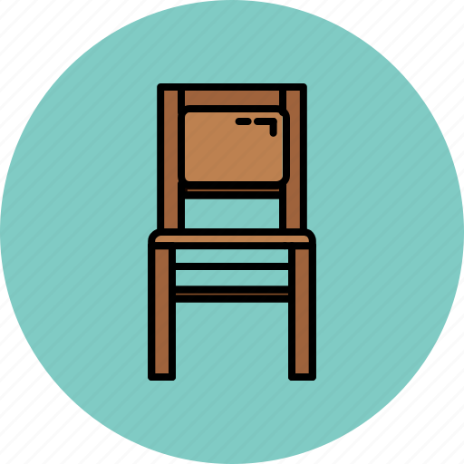 chair, furniture, home, paded, wooden icon