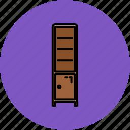 door, furniture, home, livingroom, shelves icon