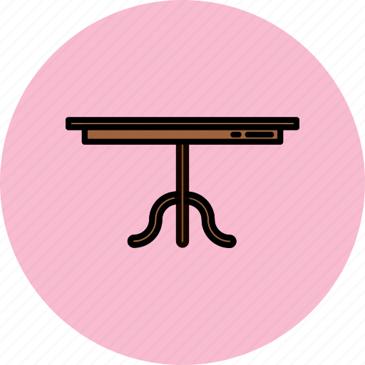 dining, furniture, home, legged, single, table icon