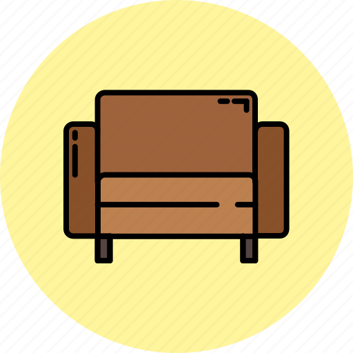 chair, fabric, furniture, home, leather, livingroom, square icon