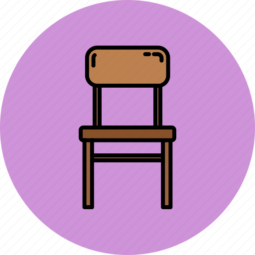 chair, dining, furniture, home, wooden icon