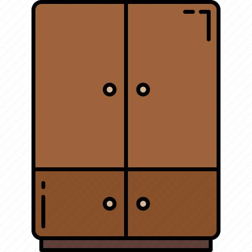 closet, doors, furniture, wooden icon