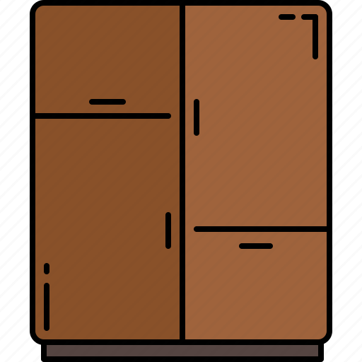 bedroom, drawers, furniture, wooden icon