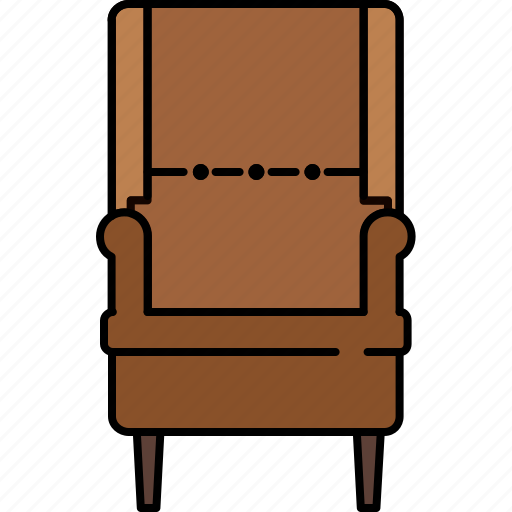 chair, fabric, furniture, lean, leather, livingroom icon